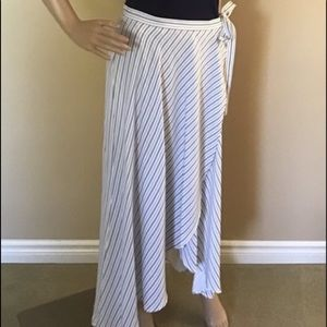 NWOT Tribal Jeans Long Navy & White Striped Skirt